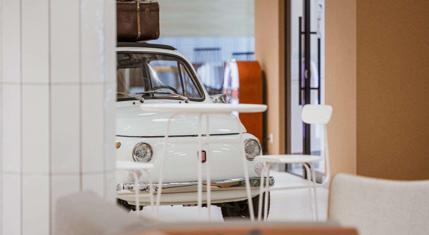 Small Car in Big Office